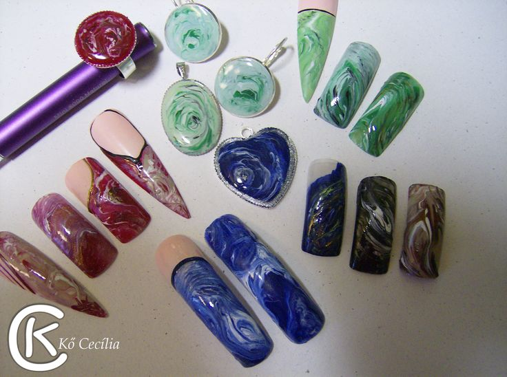 Stone effeck /nails/ Facebook :Cecilia NAILS