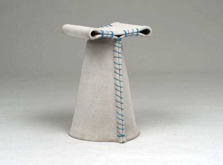 Stitching Concrete Stools By Florian Schmid