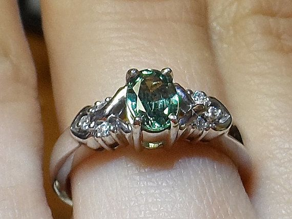 Natural Alexandrite engagement ring set in by CreationsInJewelryTX, $3750.00
