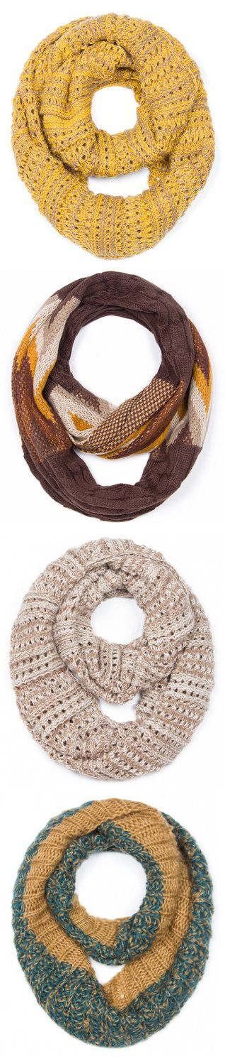 Infinity Scarves in Fall Nature Inspired Colors