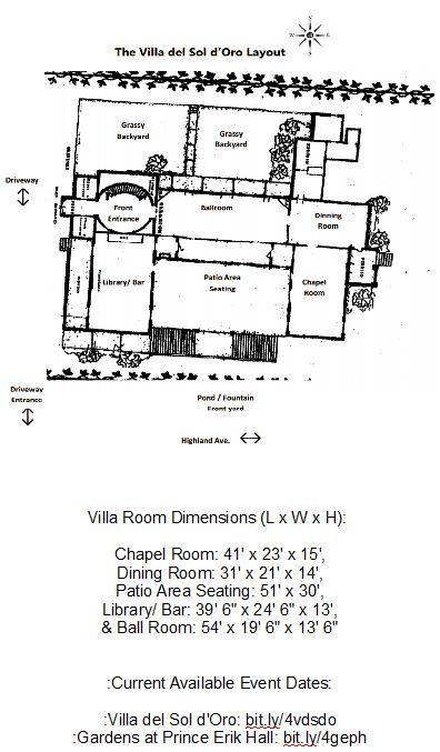 As of ~2018 - Pg 6 of 6: The Villa del Sol d'Oro Venue   Caterer   Party Rental  Brochure