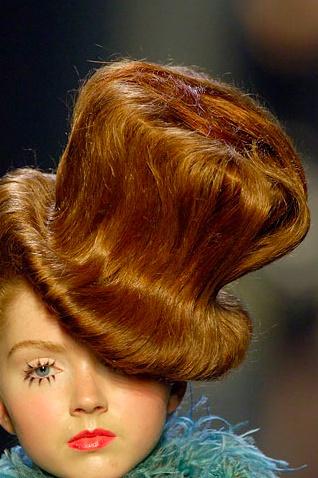 Hat hairdo (Jean Paul Gaultier Haute Couture circa 2006/2007)