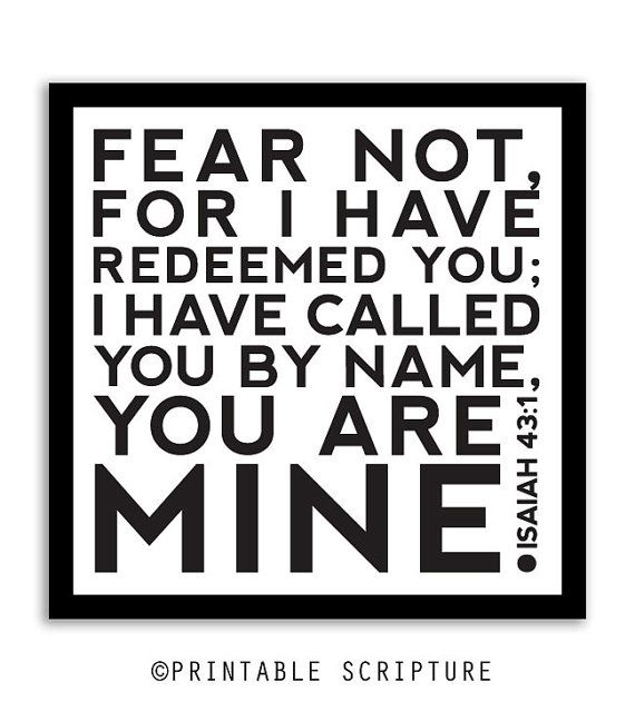 Isaiah 43:1.