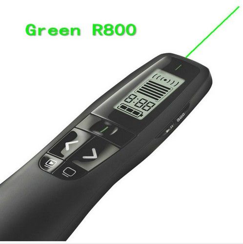 Logitech R800 de Control Remoto Page Turning Punteros Láser Verde Puntero láser presentador pluma Presentación 2.4 GHz Wireless Presenter