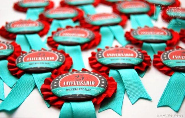 Rite Rite: Medallas personalizadas 25º Aniversario