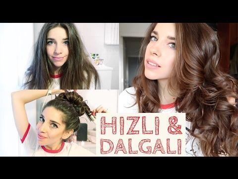 Dalgalı Saçlar | 5 Dakikada, Dolgun, Doğal - YouTube