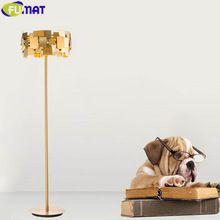 US $234.00 FUMAT Gold Stainless Steel Floor Lamps Modern Art Lamp Floor Bedroom Villa Living Room Floor Light Deformable Standing Lamp. Aliexpress product