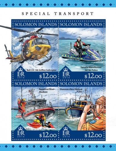 SLM16318a pecial transport (Bell CH-146 Griffon helicopter; Yamaha WaveRunner Jet Ski Police; Response Boat-Medium; Shannon-class lifeboat FCB2)