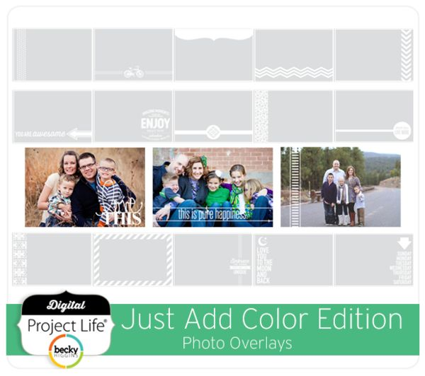 Just Add Color Photo Overlays