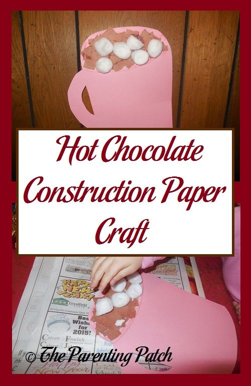 Hot Chocolate Construction Paper Craft | I love making crafts with my kiddos. Last year in celebration of winter, my daughter and I made a hot chocolate craft from construction paper.