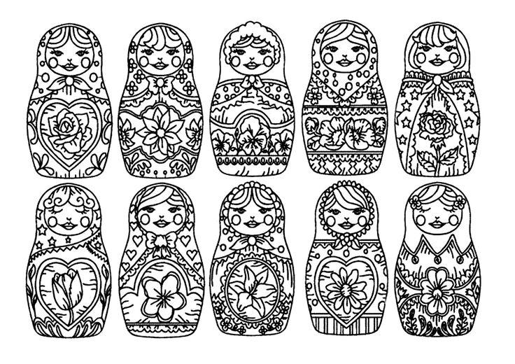 Galerie de coloriages gratuits coloriage-pourpee-russe-1. coloriage-pourpee-russe-1