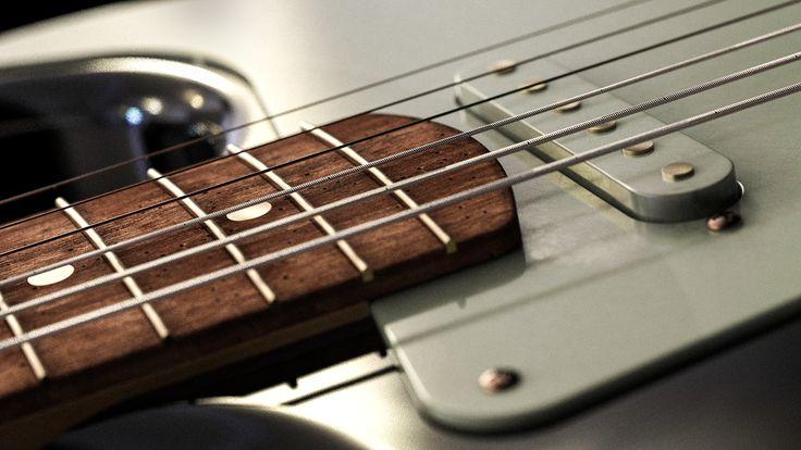 Guitar macro shot modeled in NX by Isak Nordal, rendered in KeyShot6 by Magnus Skogsfjord.