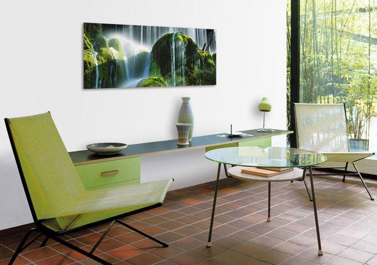 "DECO GLAS ""GREEN FALLS"" 125x50cm. € 95,90"