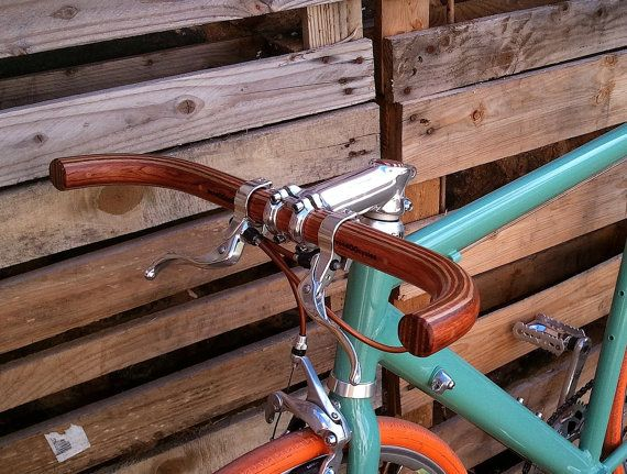 bubinga oak and ash wood bullhorn bicycle by WoodOOcycles on Etsy