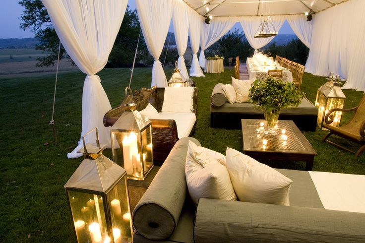 A Place to Relax: Ideas, Wedding Receptions, Lounge Areas, Weddings, Outdoor Lounges, Tent, Outdoor Parties, Lanterns, Lounges Area