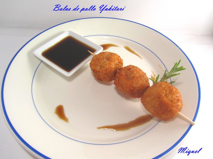 Les receptes del Miquel: Bolitas de pollo con salsa Yakitori