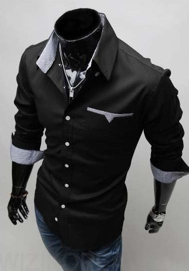 Mens Formal Shirts - Long Sleeve Luxury Dress Shirts