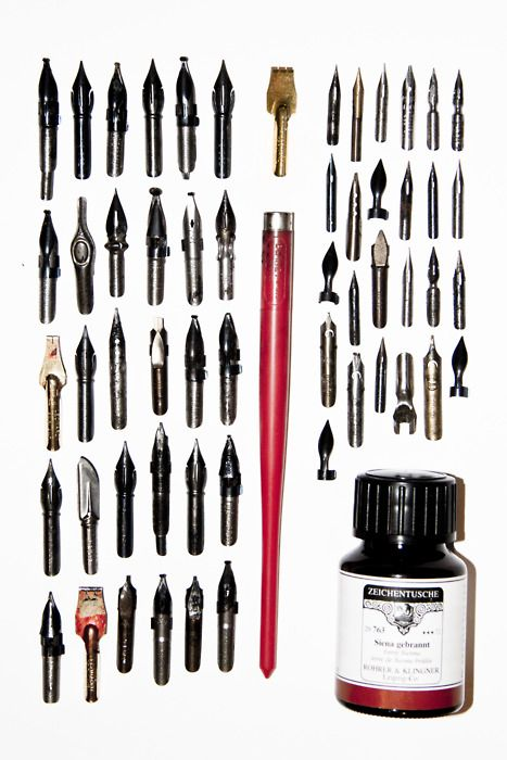 """nibs (Link doesn't lead to anything """"informative"""" about ink -- but this image tells the story for me.)"""