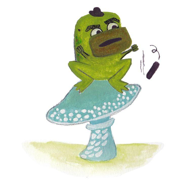 Mafia frog loosing his cool #illustration #frog #angry