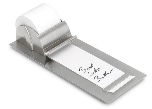 This is beautiful: Blomus Notepaper Roll Holder http://canopy.co/p/8804