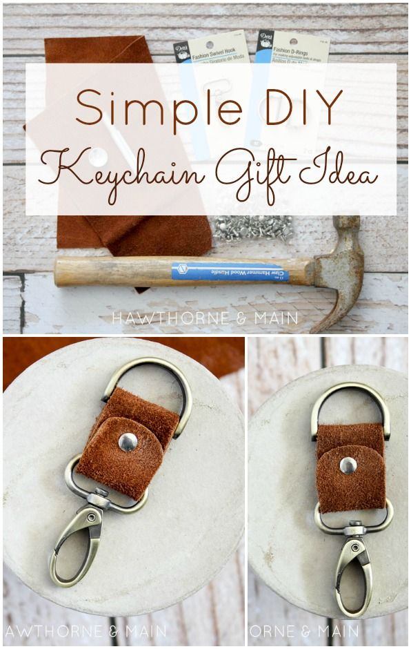 How amazing is this DIY Leather Key Chain?! The perfect gift for the men in your life!:                                                                                                                                                                                 More