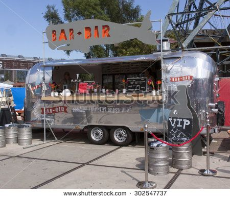 Photo About AmsterdamNetherlands July Airstream Caravan In Use As A Food Truck Bar Amsterdam