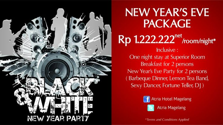 New Year's Eve Package 2015 - Black & White Party!