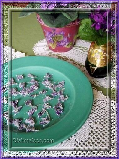 Violettes cristalisées.