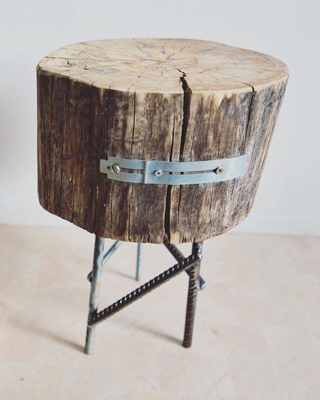 The Three Legged Log Steel Stool  #welding #stickwelding #stool #workshop #woodworking #furniture #log #chair