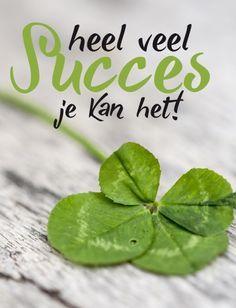 Heel veel SUCCES je kant het! | kaart BloomPost