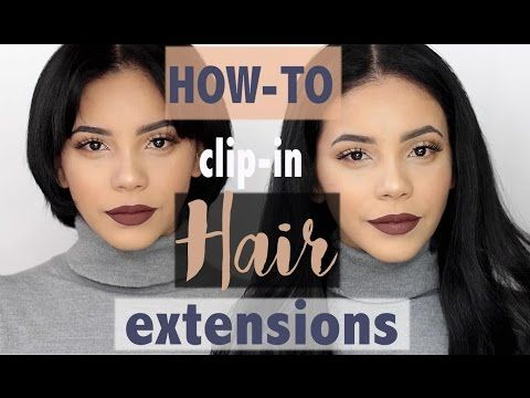 HOW-TO CLIP IN HAIR EXTENSIONS ON SHORT HAIR | CAMILLE COLLAZO - YouTube