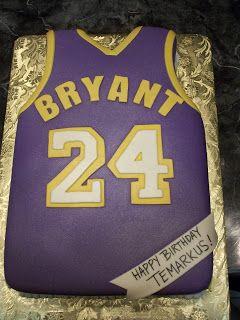 MyMoniCakes: Lakers Kobe Bryant Jersey Cake
