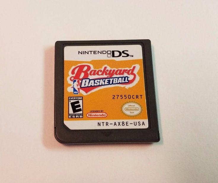 Nintendo DS Backyard Basketball Video Game Cartridge Lite DSi XL 3DS 2DS 2007