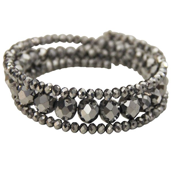 SILVER #CRYSTAL WRAP #BRACELET JKB203SI #jacquelinekent #ksajewelry #jacquelinekentjewelry