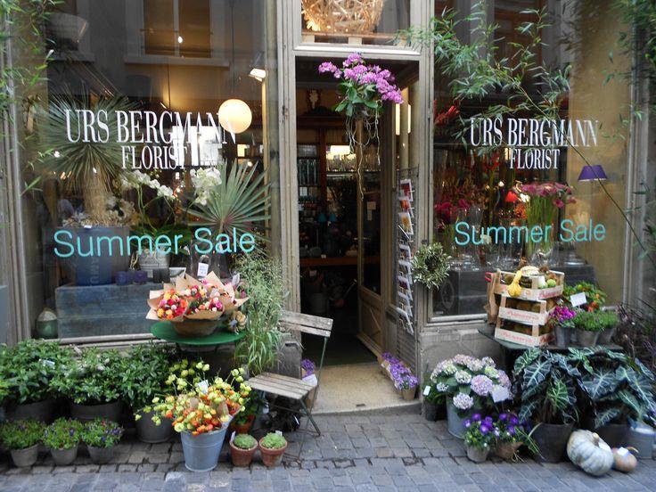 Floral shop in Zurich, Switzerland