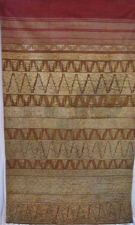 Indonesia, Sumatra, Lampung, woman's tapis (tube skirt)