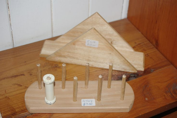 Decorative wooden napkin holder and a handy spool holder for you craft and sewing projects. (Nov 2013)