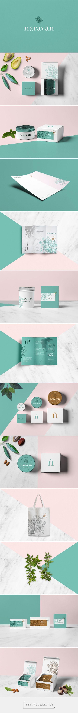 Naraván beauty packaging designed by Para todo hay FANS - http://www.packagingoftheworld.com/2015/08/naravan.html