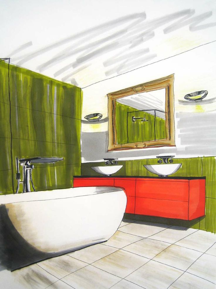 Short Courses Interior Design Student Drawings From Freehand Perspective Drawing For Designers .