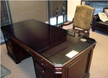 A Great Way To Protect The Integrity Of Your Office Desk Is Adding A Custom  Cut