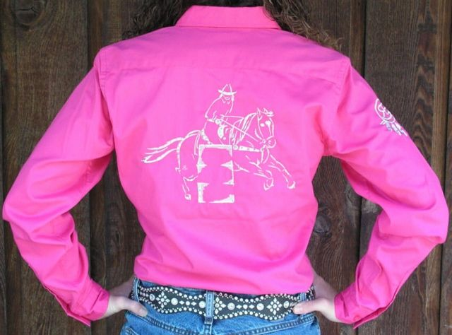 fringe barrel racing shirts | Barrel Racer Sketch Rodeo Shirt