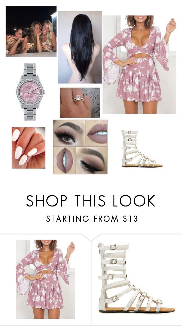 """Girls Time with Antonella Roccuzzo, Sofia Balbi and Daniella Semaan at Ibiza"" by fcbwag on Polyvore featuring moda, Lauren Conrad y Rolex"