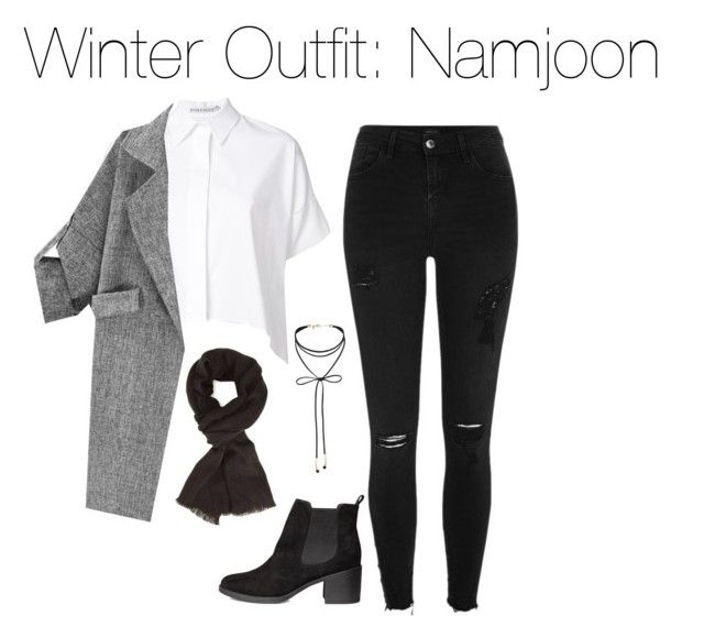 """""""Winter Outfit: Namjoon"""" by kookiechu ❤ liked on Polyvore featuring River Island, Alice + Olivia, Miss Selfridge and H&M"""