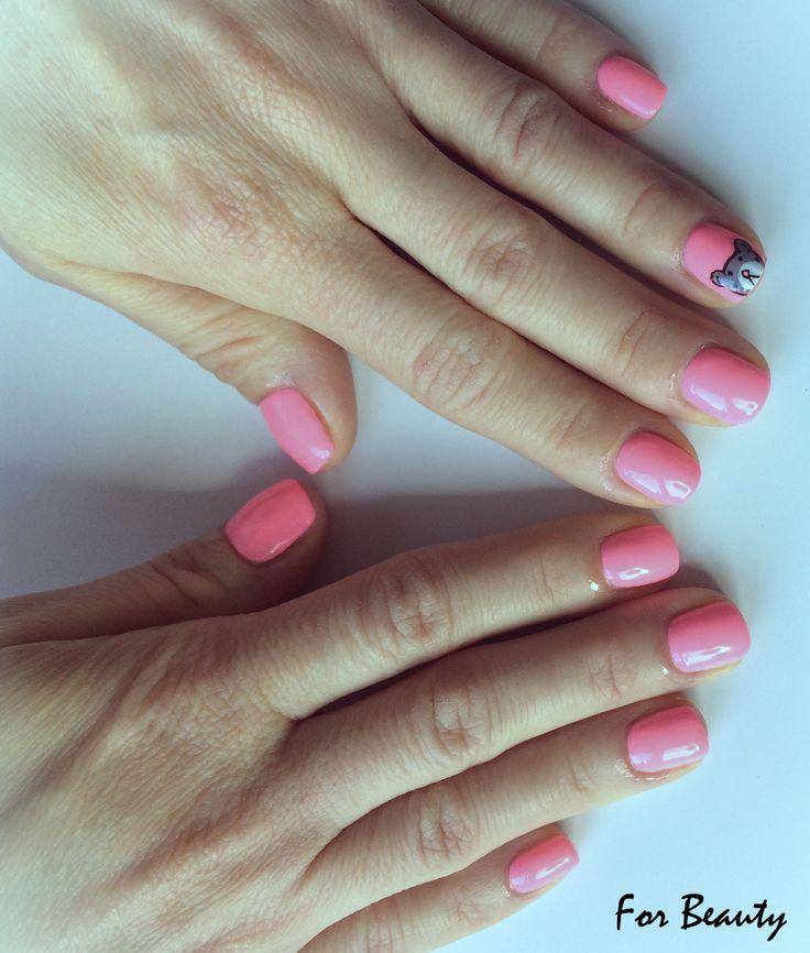 paznokcie hybrydowe wzorek - salon kosmetyczny For Beauty