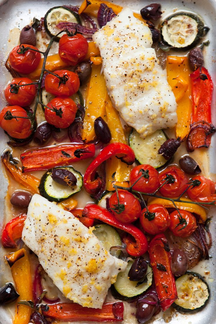 One-Tray Baked Cod Provençal 5:2 recipe  http://www.marieclaire.co.uk/blogs/542464/5-2-diet-recipes-our-favourites.html?utm_campaign=5%3A2recipesyou%27llloveblog_source=twitter_medium=social