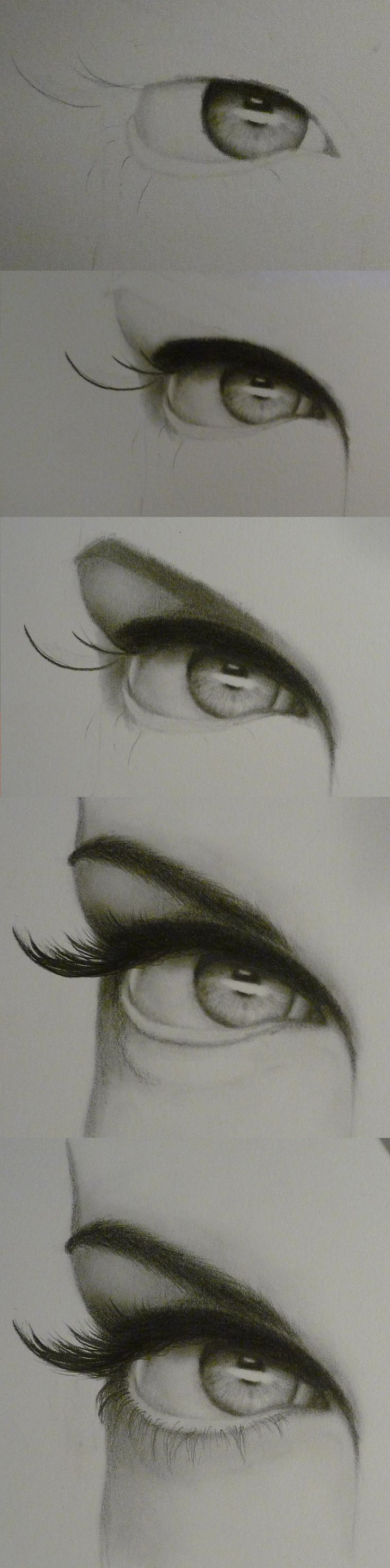 Eye Progression by ~lovedolphins10409 on deviantART Pencil drawings are always so detailed - amazing end result