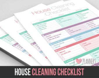 18 best cleaning checklist images on pinterest cleaning the ultimate house cleaning checklist printable pdf by myluxefinds fandeluxe Images