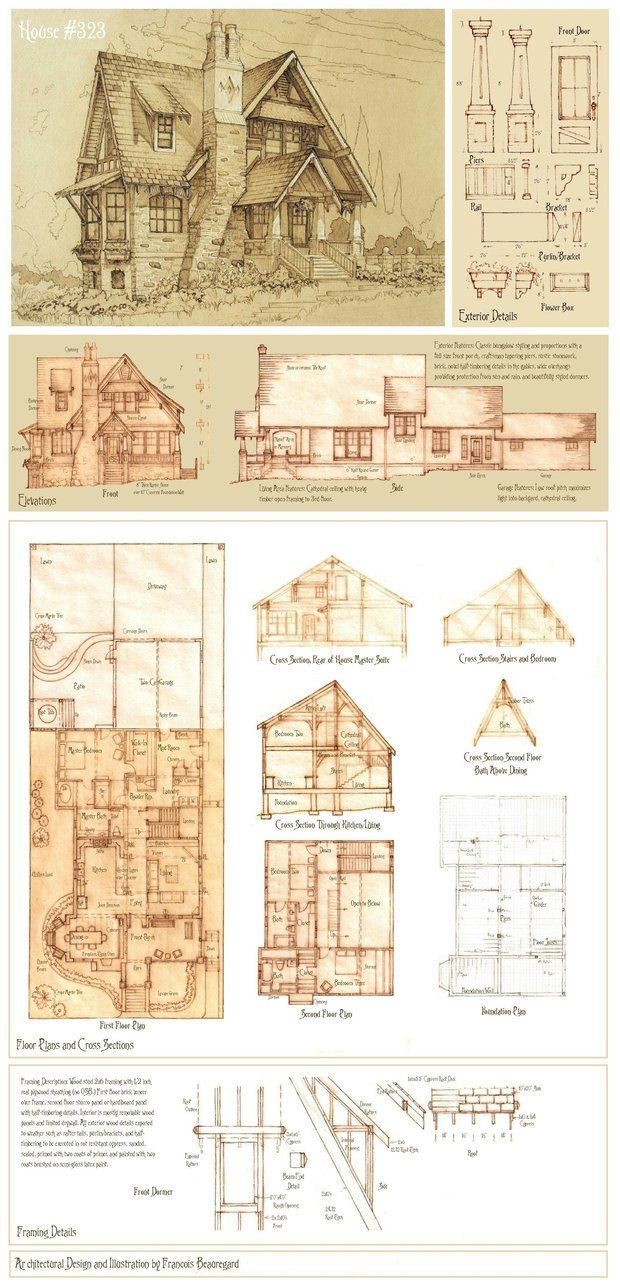 17 Best Images About Vintage House Plans Storybook On