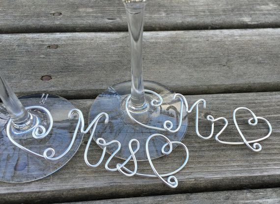 Set of 2 Custom Wine Charms Choice of 12 wire by DressTheDressNS