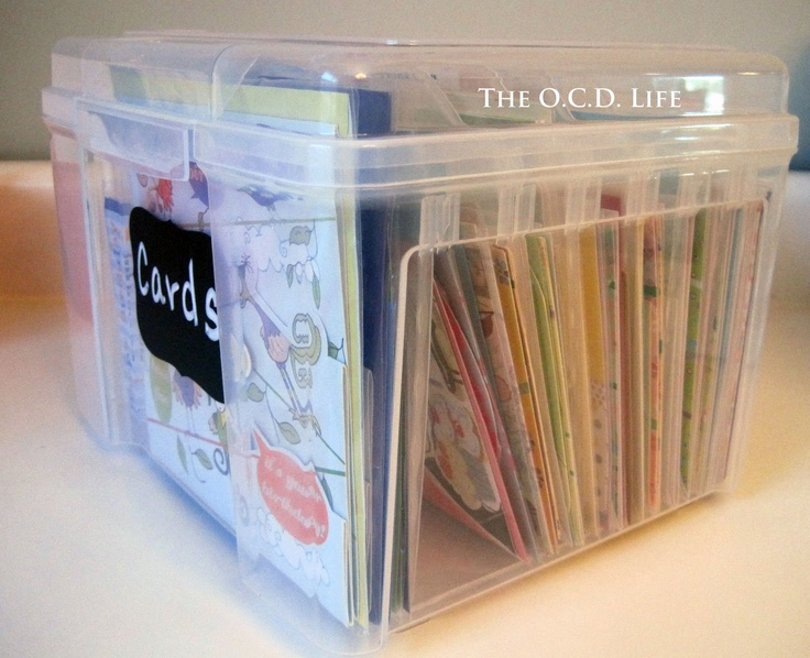 The O.C.D. Life: Unused Greeting Card Storage... Take Two! This lady has a great website for organizing EVERYTHING! I might become down with a case of OCD!